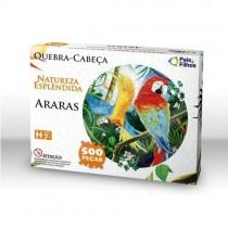Quebra-Cabeça Redondo 500 peças Araras - Pais e Filhos