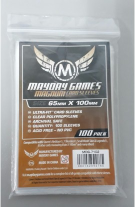 Protetor de Cartas M. GAMES MAGNUM 65 x 100 mm (100 Sleeves)